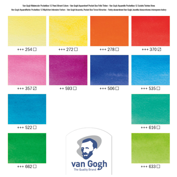 van Gogh Pocketbox Vibrant Colours