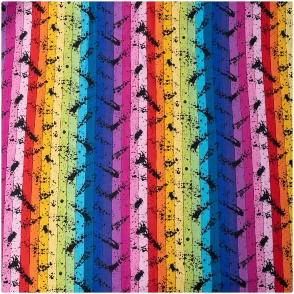 Baumwolle Buzzin Around Stripe Rainbow