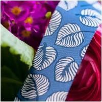 Farbenmix Webband Sew & More Blätter Blau
