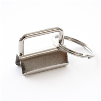 Schlüsselanhänger Klemme Rohling 25mm Silber