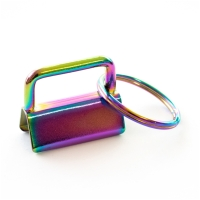 Schlüsselanhänger Klemme Rohling 25mm Regenbogen