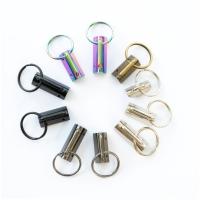 Schlüsselanhänger Klemme Rohling 32mm Schwarz matt