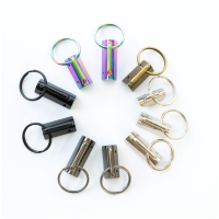 Schlüsselanhänger Klemme Rohling 32mm Regenbogen