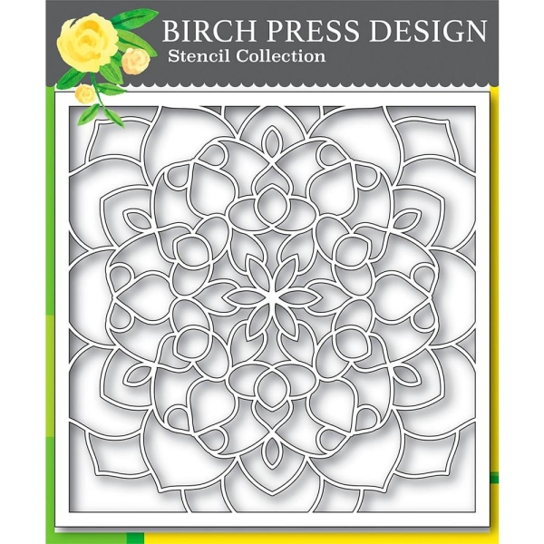Birch Press Schablone - Midnight Mandala 15x15cm