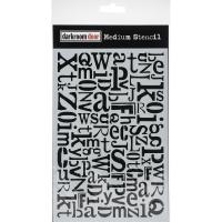 Darkroom Door Schablone - Alphabet Jumble 15x23cm