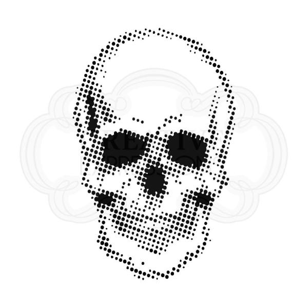 Creative Expressions Schablone - Half Tone Skull 18x18cm