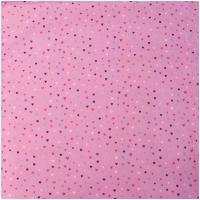 Baumwolle KIM bunte Herzchen auf pink