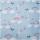 Baumwolle KIM Wolken, Sterne, Herzen auf himmelblau