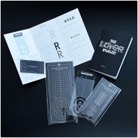 Nico Ng Letter Ruler Set mit Booklet