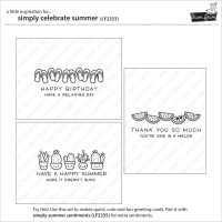 Lawn Fawn Clear Stamps Simply Celebrate Summer