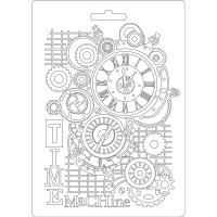 Stamperia Texture Impressions Time Machine A5