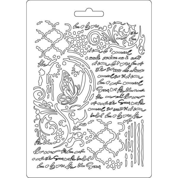 Stamperia Texture Impressions Papillons et Manuscrits A5