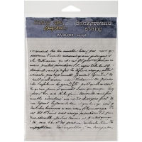 Studio 490 Cling Stamp - Script Background