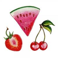 Safuri Bügelbild Früchte Trio