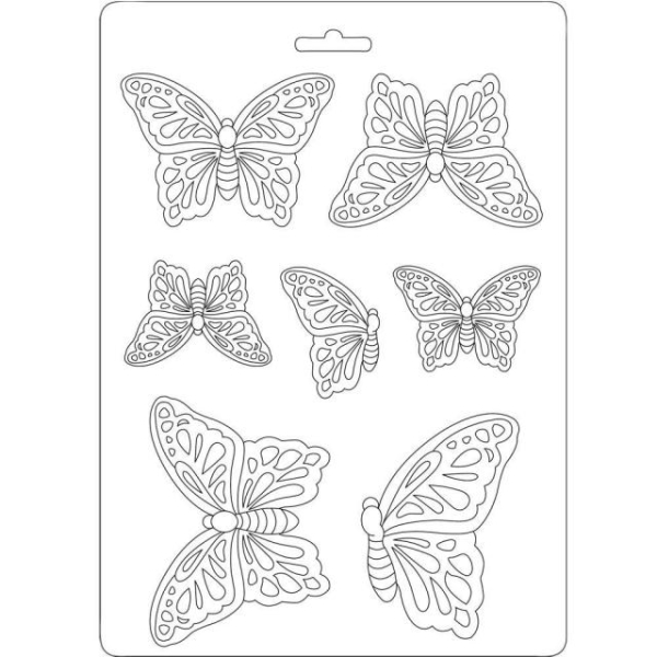 Stamperia Texture Impressions Butterflies A5