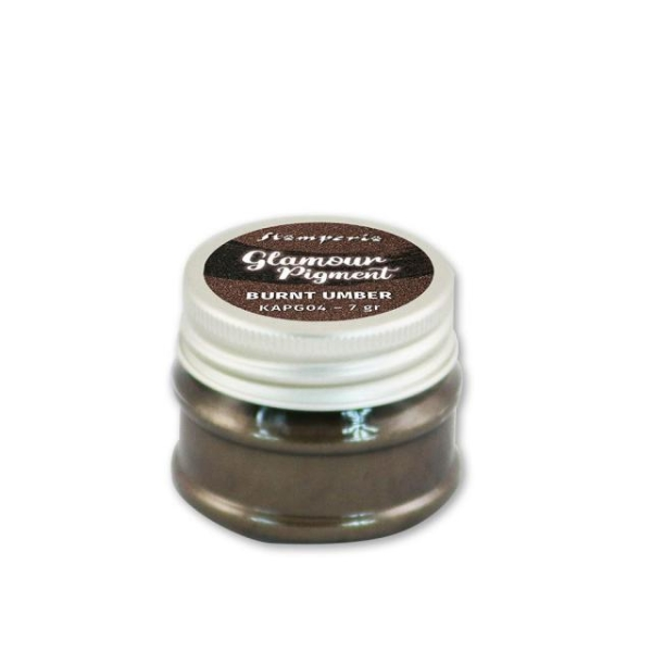 Stamperia Glamour Powder Pigment Burnt Umber 7g