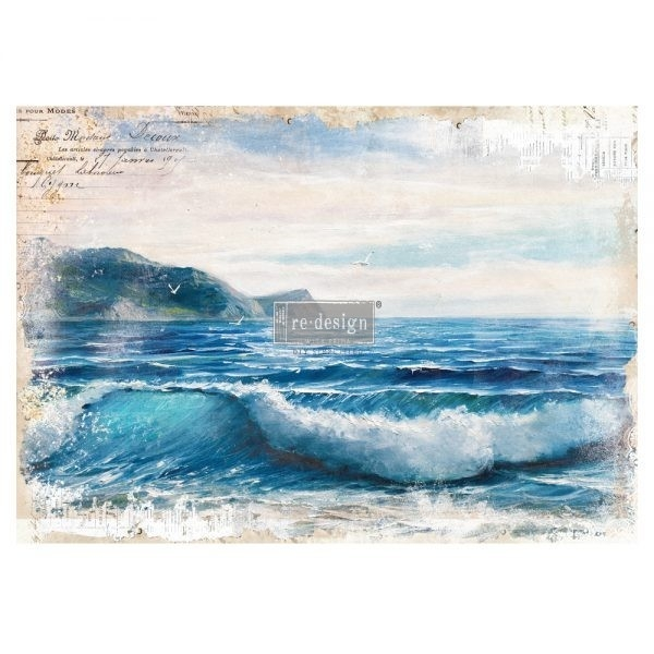 Re-Design Décor Transfers - Blue Wave