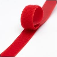 Klettverschluss Haken+Flausch 20mm Rot