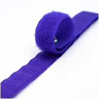 Klettverschluss Haken+Flausch 20mm Violett