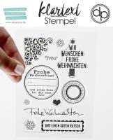 Clear Stamp Set - Frohe Weihnachten