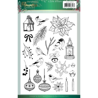Jeanines Art Silikonstempel - Christmas Flowers