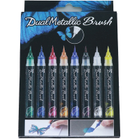 Pentel Dual Metallic Brush 8er Set