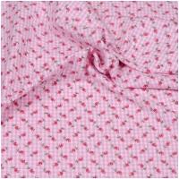 Hilco Baumwollpopeline Hilde Rosen auf Vichy Rosa/Weiss
