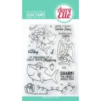 Avery Elle Clear Stamp & Die Set SANTA JAWS
