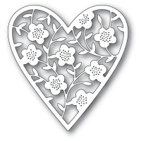Memory Box Die Stanze - FLORAL BOUQUET HEART