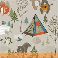 Baumwolle Bear Camp Beige