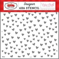 Echo Park Schablone - Love You 15x15cm