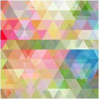 Baumwolle Dreiecke Multicolor