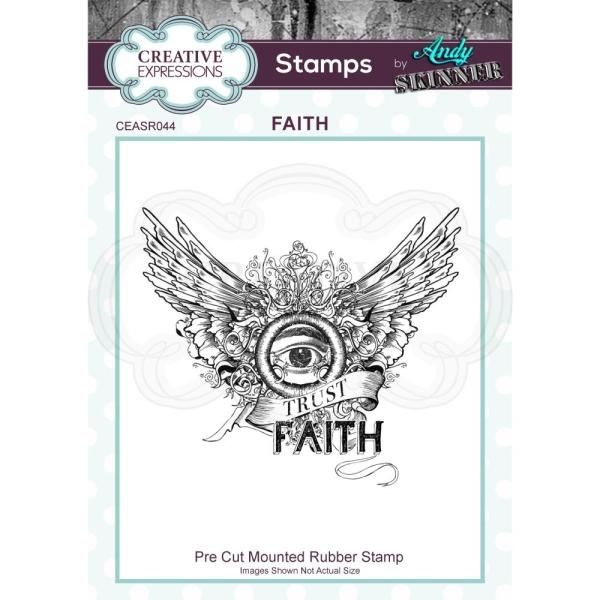 Creative Expressions Cling Stempel FAITH
