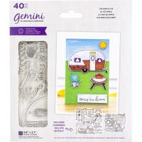 Crafters Companion Clear Stamp & Die Set THE SIMPLE LIFE