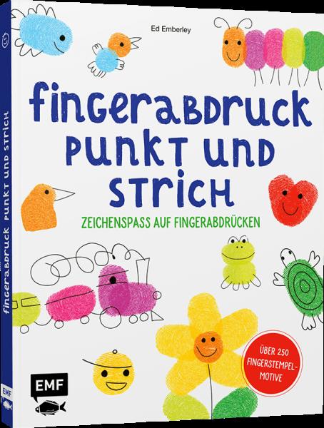 Buch - Fingerabdruck, Punkt und Strich - Zeichenspass auf Fingerabdrücken