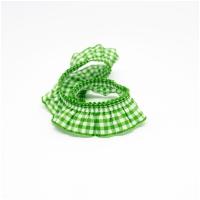 Elastische Vichy Rüsche Grasgrün