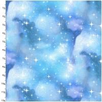 Baumwolle Magical Galaxy Kosmos Helltürkis/Silber