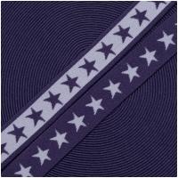 Gummiband mit Sternen 20mm Flieder/Violett