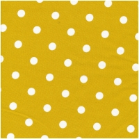Au Maison Wachstuch Dots Big Mustard