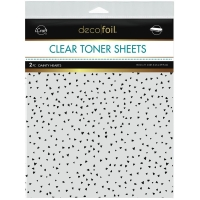 Deco Foil Clear Toner Sheets - Dainty Hearts
