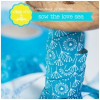 Farbenmix Webband Sow the Love sea