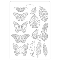 Stamperia Giessform - Amazonia Leaves and Butterflies A4