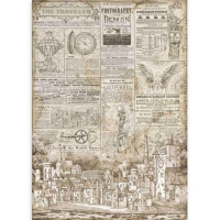 Stamperia Reispapier A3 Sir Vagabond The Traveler