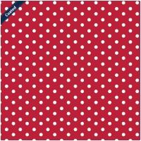 Beschichtete Baumwollpopeline Maxipunkte Rot