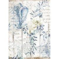 Stamperia Reispapier A4 Romantic Sea Dream Shells