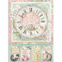 Stamperia Reispapier A4 Clock