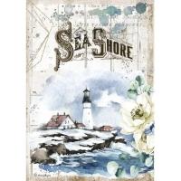 Stamperia Reispapier A4 Romantic Sea Shore