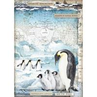 Stamperia Reispapier A4 Penguins