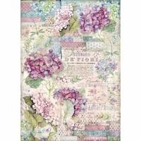 Stamperia Reispapier A3 Hortensia