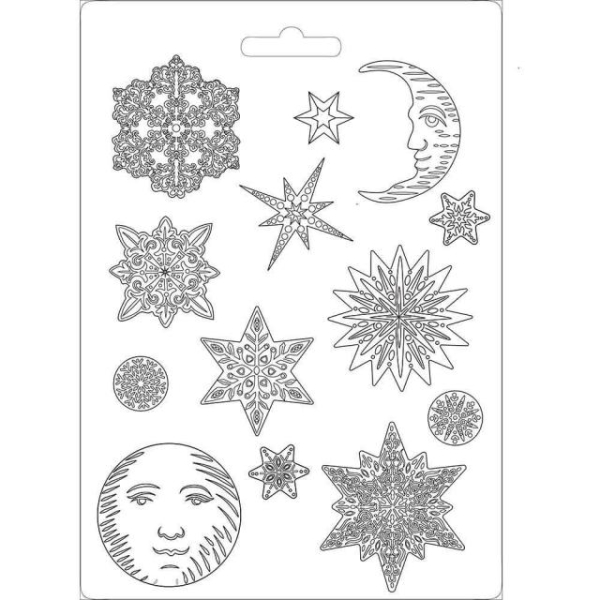Stamperia Giessform - Snowflakes A4